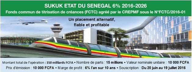 SUKUK Etat du Sénégal