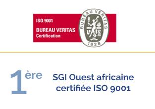 SGI Ouest Africain Certifiée ISO 9001