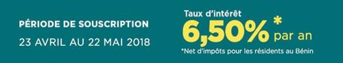 Emprunt obligataire « TPBJ 6,50% 2018-2025 »