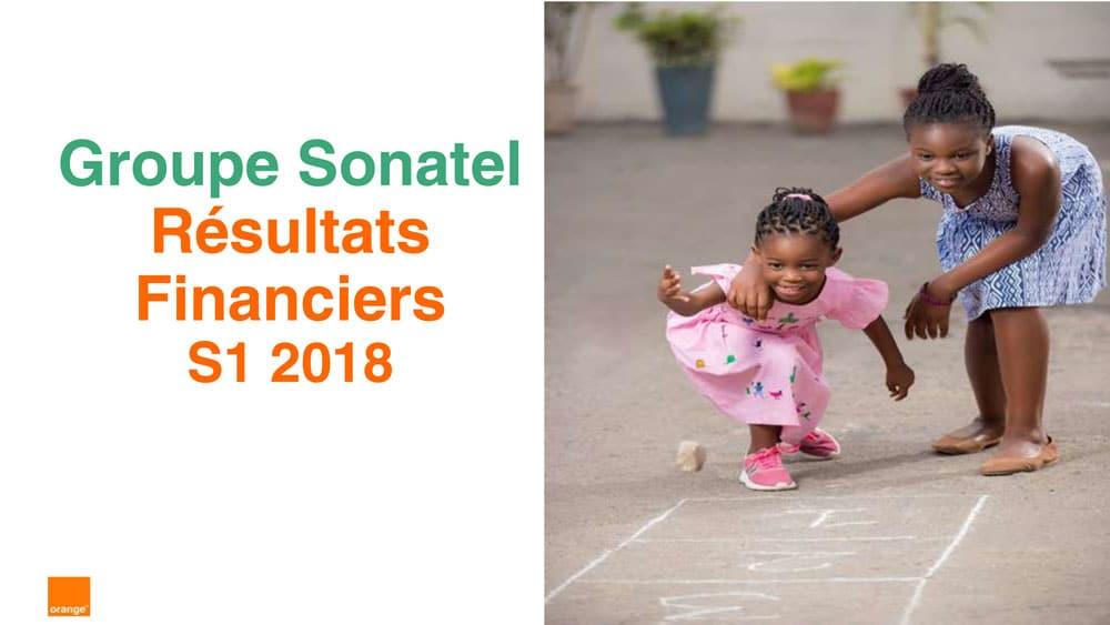 Résultats 1er semestre 2018 SONATEL